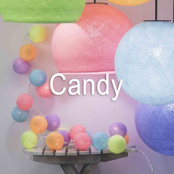 guirnalda hilo algodon candy